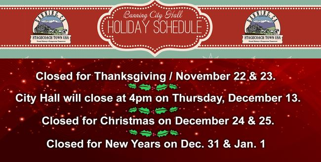 Holiday Schedule WEB