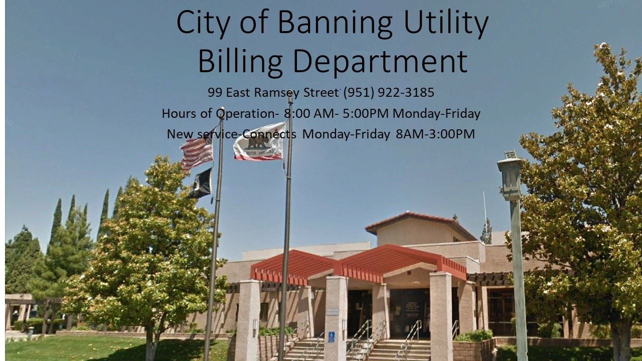 City of Banning Utility Billing Department